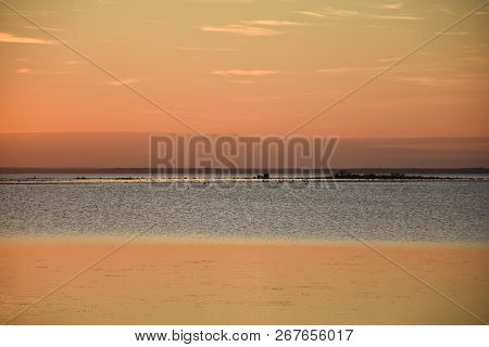 Colorful Seascape By Sunset At The Swedish Island Oland