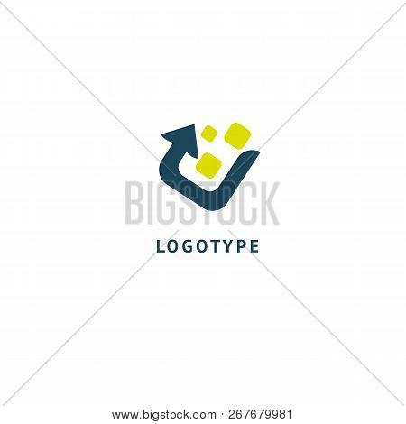 Arrow Icon. Vector Flat Style Illustration Abstract Business Logo Template. Logo Concept Of Progress