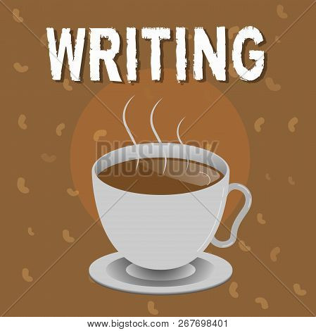 Conceptual Hand Writing Showing Writing. Business Photo Text Action Of Write Something Making Import