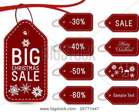 Collection of Holiday Gift Tags and Labels