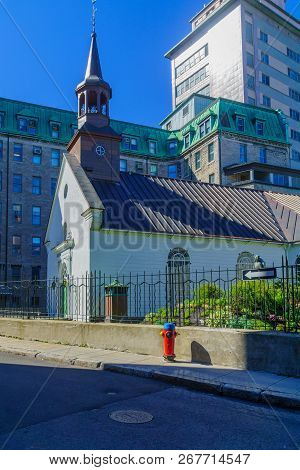 View Of The Chapelle Hotel-dieu De Quebec, In Quebec City, Quebec, Canada