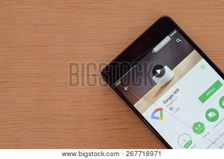 Bekasi, West Java, Indonesia. November 9, 2018 : Google Wifi Dev App On Smartphone Screen. Google Wi