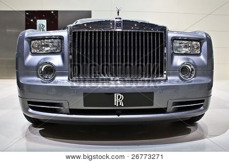 GENEVA - MARCH 7: Rolls Royce Phantom extended base shown on display at the 79th International Motor Show Palexpo-Geneva on March 7, 2009.