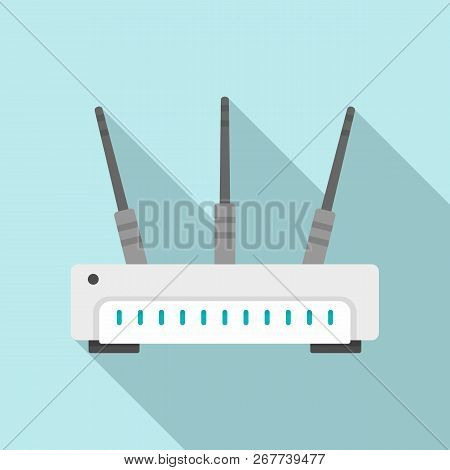 Wifi Router Icon. Flat Illustration Of Wifi Router Icon For Web Design