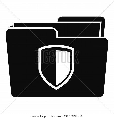 Protected Folder Icon. Simple Illustration Of Protected Folder Icon For Web Design Isolated On White