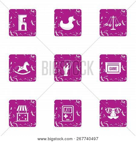 Gadget Icons Set. Grunge Set Of 9 Gadget Vector Icons For Web Isolated On White Background