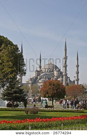 Famous Blue mosque in Istanbul, Turkey