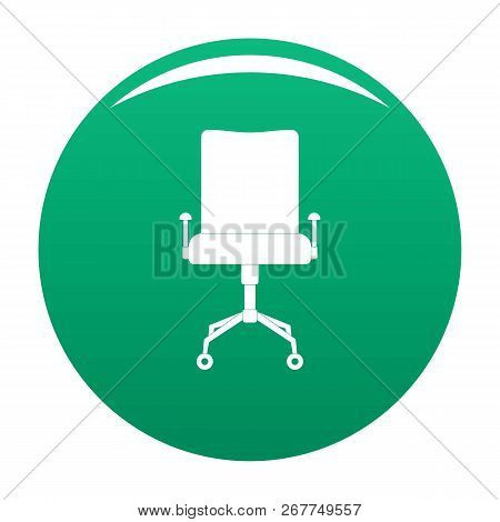 Leather Chair Icon. Simple Illustration Of Leather Chair Icon For Any Design Green