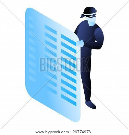 Hide Hacker Action Icon. Isometric Of Hide Hacker Action Icon For Web Design Isolated On White Backg