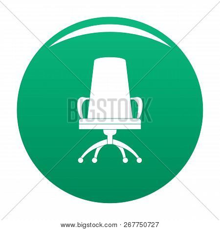 Director Chair Icon. Simple Illustration Of Director Chair Icon For Any Design Green