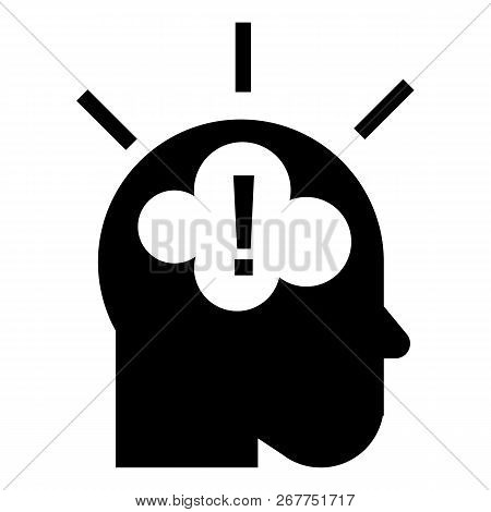 Idea Brainstorming Icon. Simple Illustration Of Idea Brainstorming Icon For Web Design Isolated On W