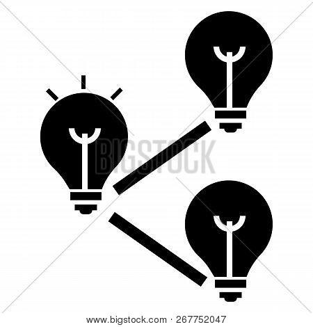 Idea Bulb Interaction Icon. Simple Illustration Of Idea Bulb Interaction Icon For Web Design Isolate