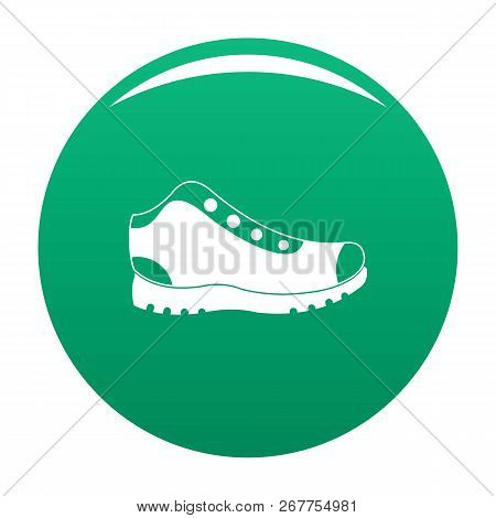Hiking Boots Icon. Simple Illustration Of Hiking Boots Icon For Any Any Design Green