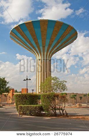 Famous water tower in the Riyadh city, Saudi Arabia