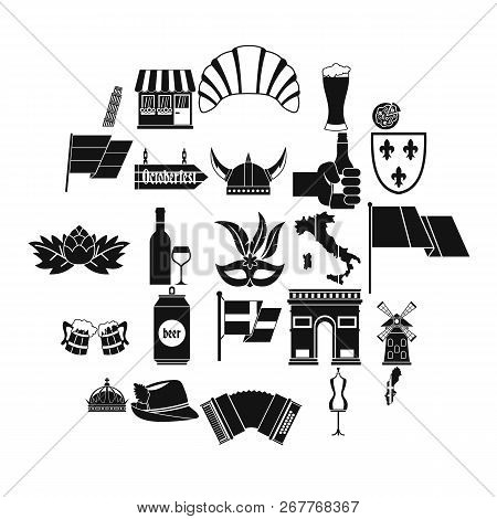 Old Europe Icons Set. Simple Set Of 25 Old Europe Vector Icons For Web Isolated On White Background