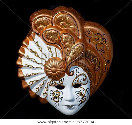Venetian mask isolated on black