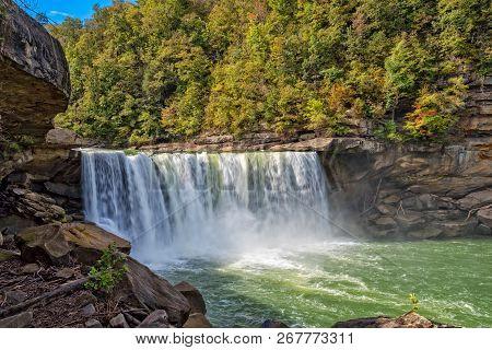 Cumberland Falls In Cumberland Falls State Park In Kentucky