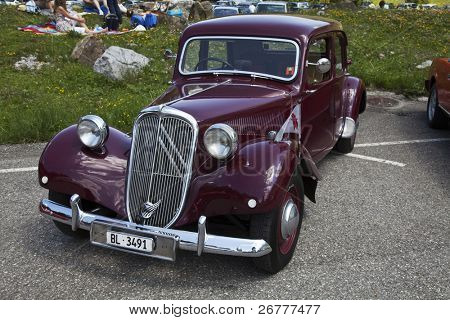 SCHWAEGALP - JUNE 27: Old  car on the 7th International