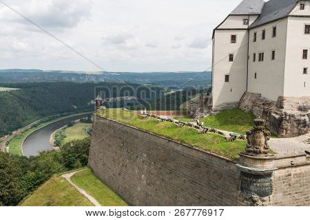 A Castle In The East Of Germany Near Dresden