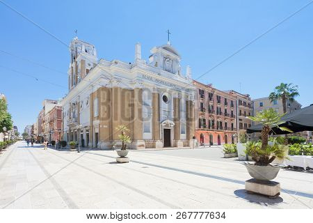 Taranto, Apulia, Italy - May 31, 2017 - Church Of Maria Santissima Del Monte Carmelo