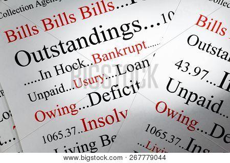 Debt Concept  - A Conceptual Look At Debt And Owing Money.