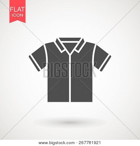 Shirt Icon. Tshirt Flat Design. T Shirt Wear Fashion. Stock Vector Illustration Flat Design Style