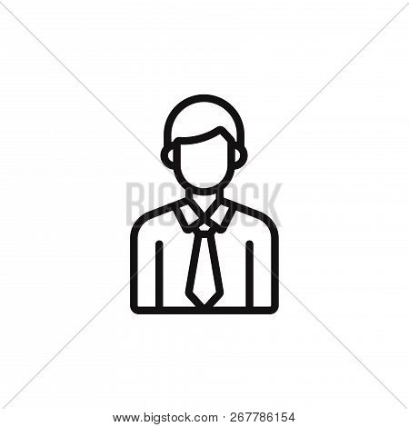 Male Student Icon Isolated On White Background. Male Student Icon In Trendy Design Style. Male Stude