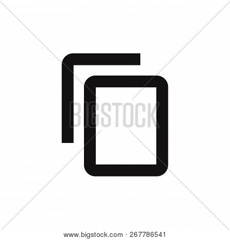 Copy Content Icon Isolated On White Background. Copy Content Icon In Trendy Design Style. Copy Conte