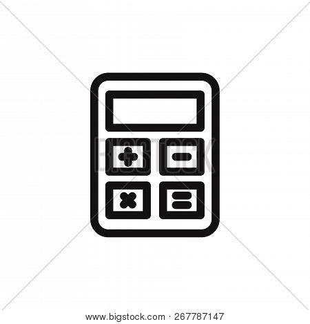 Calculator Icon Isolated On White Background. Calculator Icon In Trendy Design Style. Calculator Vec