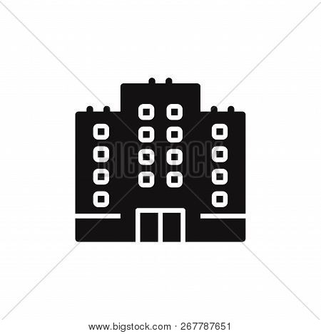 Building Icon Isolated On White Background. Building Icon In Trendy Design Style. Building Vector Ic