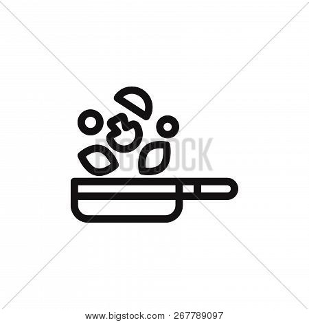 Frying Pan Icon Isolated On White Background. Frying Pan Icon In Trendy Design Style. Frying Pan Vec