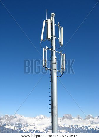 GSM Antenna installed in swiss alps