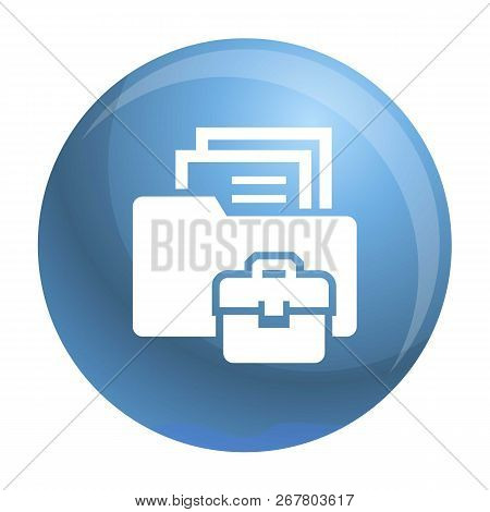 Folder Briefcase Icon. Simple Illustration Of Folder Briefcase Vector Icon For Web Design Isolated O