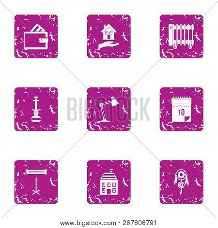 Thawing Weather Icons Set. Grunge Set Of 9 Thawing Weather Vector Icons For Web Isolated On White Ba