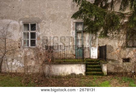 Entrance Area Of An Abandoned House