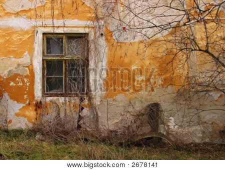 Grungy Window And  Facade