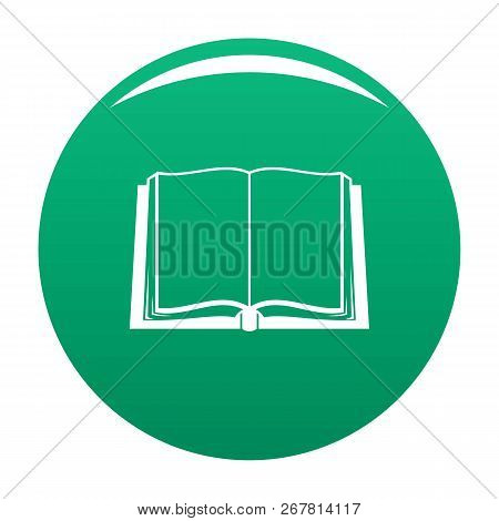 Book Deployed Icon. Simple Illustration Of Book Deployed Vector Icon For Any Design Green
