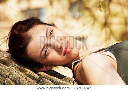 Teenage Girl Resting