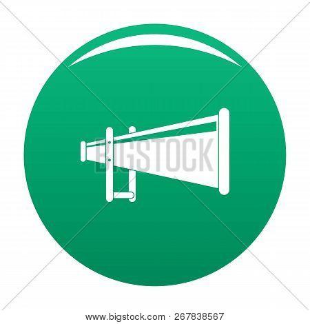 Portable Megaphone Icon. Simple Illustration Of Portable Megaphone Vector Icon For Any Design Green
