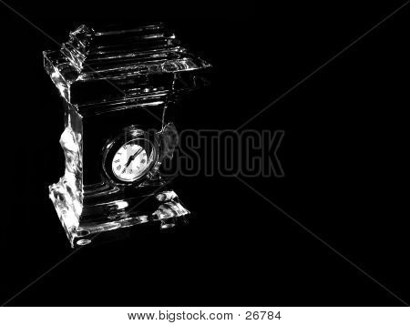 Abstract Crystal Clock Isolated