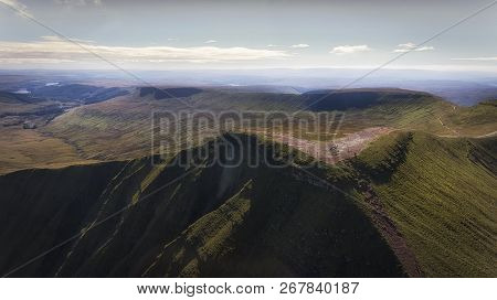 Editorial Brecon, Uk - September 26, 2018: A Very Popular Place For Hikers And Walkers Is The Summit