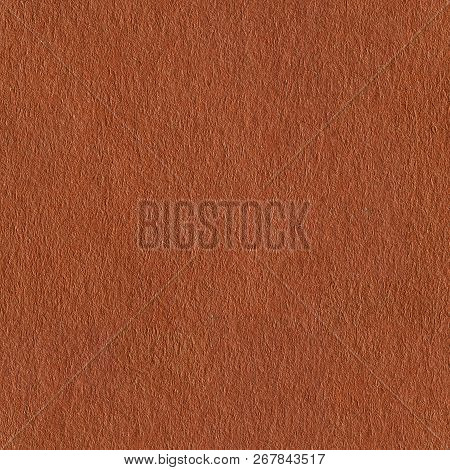 Photo Of Brown Paper. Seamless Square Texture. Tile Ready.