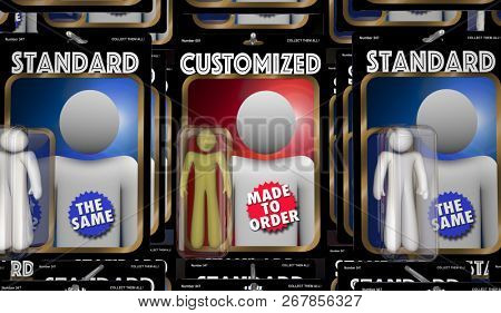 Customized Person Special Made to Order Product 3d Illustration