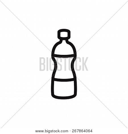 Water Bottle Icon Isolated On White Background. Water Bottle Icon In Trendy Design Style. Water Bott
