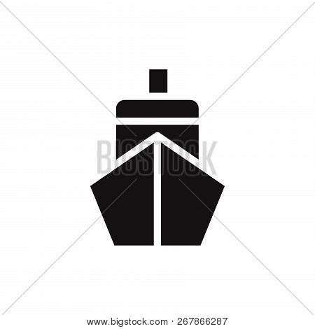 Ship Front Icon Isolated On White Background. Ship Front Icon In Trendy Design Style. Ship Front Vec