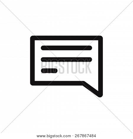 Message Icon Isolated On White Background. Message Icon In Trendy Design Style. Message Vector Icon