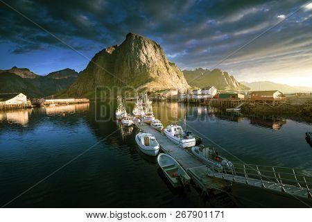sunset - Reine, Lofoten islands, Norway