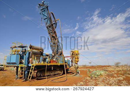 Rc Drill Rig In Exploration Field - Australia