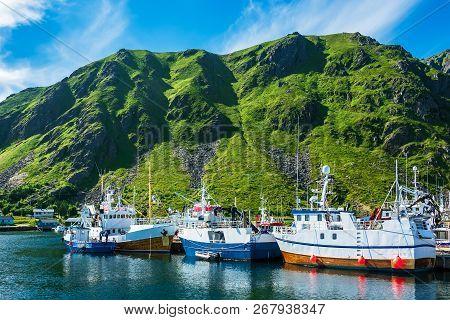 Fishing Boats On The Lofoten Islands In Norway.