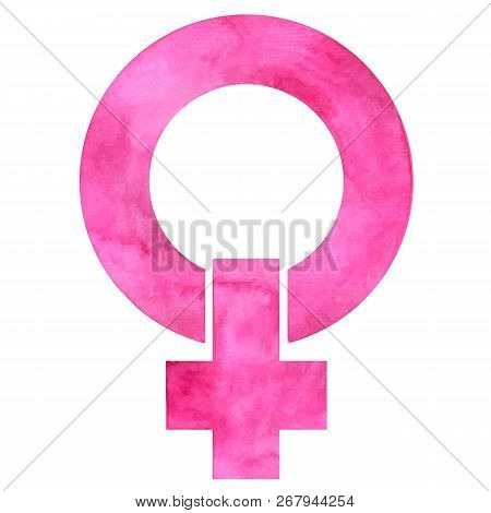 Symbol Of Feminism, Women And The Struggle For Their Rights In A Variety Of Shades Of Pink